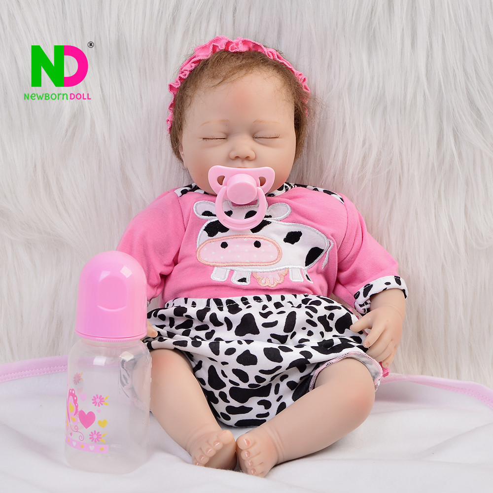 Wholesale Baby Born Doll Silicone Reborn Dolls Babies Lifelike Asleep For 2018 Princess Gift Collection Real Toys Newborn Dolls handmade chinese ancient doll tang beauty princess pingyang 1 6 bjd dolls 12 jointed doll toy for girl christmas gift brinquedo