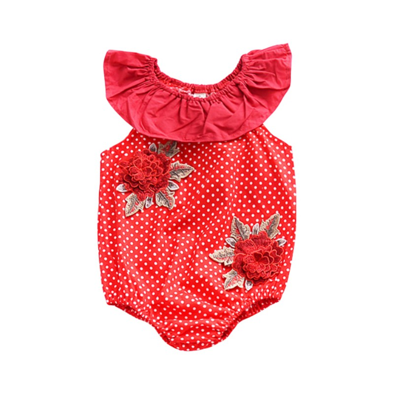 2018 New Summer Baby Girl Romper Hot Sale Newborn Babys Girl Unicorn Dot Flower Romper Sleeveless Jumpsuit Baby Clothing