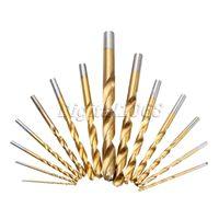 99pcs Set Titanium Coated HSS Twist Drill Bit Set Woodworking Power Tools Drill High Speed Steel