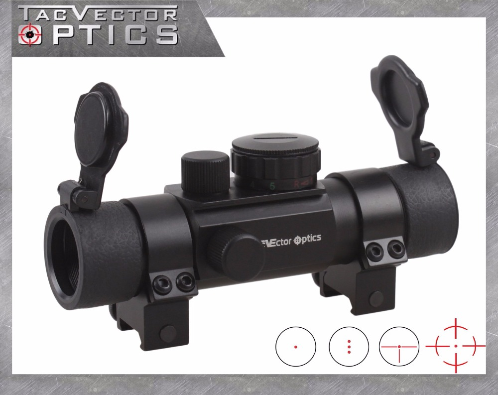ФОТО Vector Optics Chimaera 1x30 Multi Reticle Green and Red Dot Scope Sight with 20mm Weaver or 11mm Dovetail Mount Ring