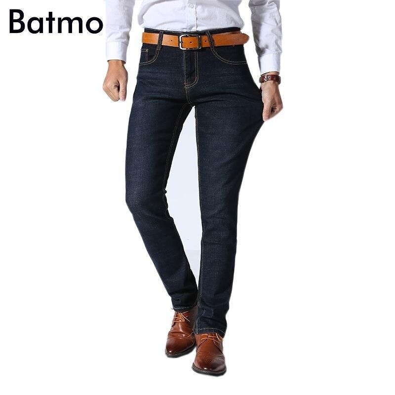 2018 Новое поступление высококачественные классические эластичные повседневные узкие джинсы мужчин, мужская повседневная темно-синие джинс... ...