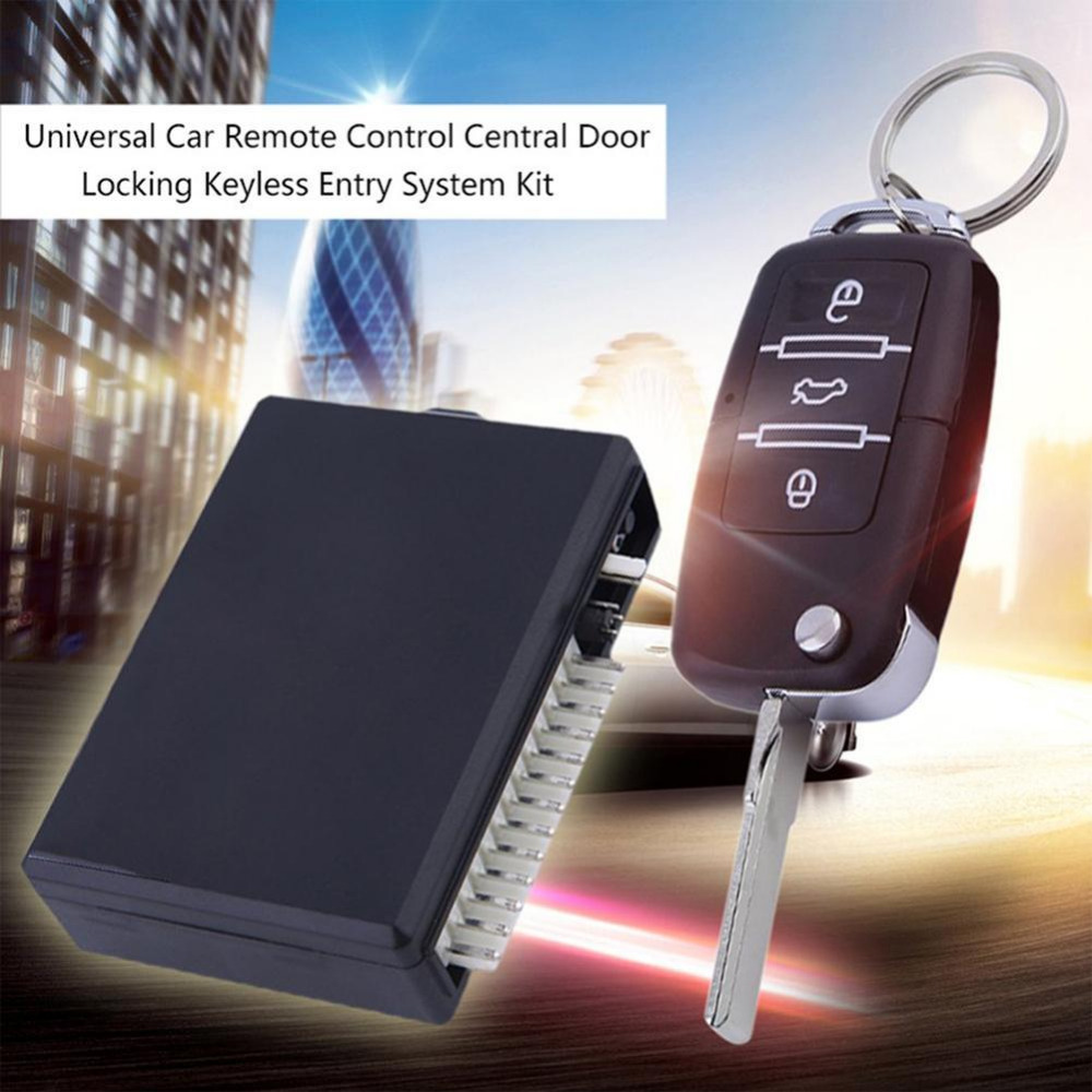 Universal Car Remote Control Central Door Locking Keyless Entry System Kit Automatic Central Lock Output Optional