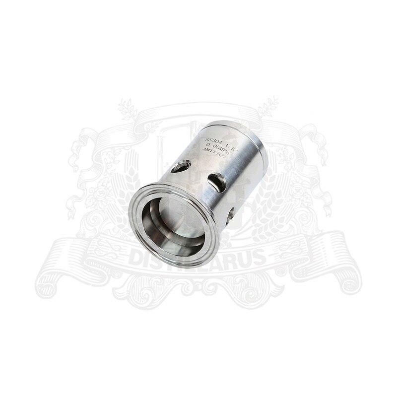 1,5 (OD50.5) зажим на сантехническую трубу Давление предохранительный клапан/вакуумный выключатель нержавеющая сталь 304