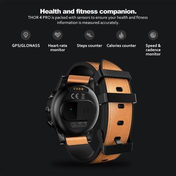 "Para Zeblaze THOR 4 PRO 4G SmartWatch 1,6 ""Pantalla de Cristal GPS/GLONASS Quad Core 16GB correas de cuero híbrido reloj inteligente para hombres"