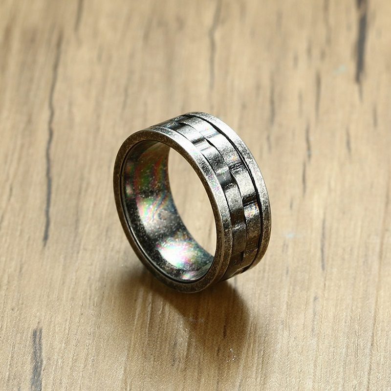 Fashion Vintage Ring Men Stainless Steel Classic Gray Color 9mm Couple Ring Simple Jewelry Lovers Rings For Women Wholesale
