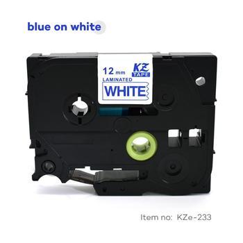 CIDY TZe 233 TZ 233 Tze233 Tz233 20pcs blue on white tze compatible laminated tape for brother label printers