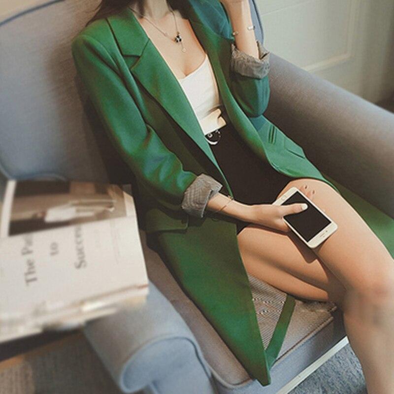 U-SWEAR femmes Blazer bureau dame Cardigan à manches longues solide grande taille XXXL femmes Blazers 2019 printemps automne veste
