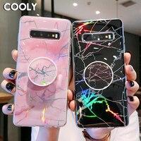 COOLY-funda de mármol láser para Samsung Galaxy S10 Plus S10e S9 S8 S7 Edge Note 8 9, carcasa trasera de silicona TPU suave para teléfono
