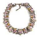 Chunky ZA Brand Choker Design Bib Crystal Necklace Pendants For Women Link Chain Fashion Statement Choker Necklace Luxury M390-2