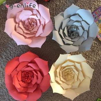JOY-ENLIFE 1 pcs 30 cm/40 cm DIY Flores De Papel Pano de Fundo Decorativo Flores Artificiais Decoração Do Casamento da Festa de Aniversário Em Casa decoração