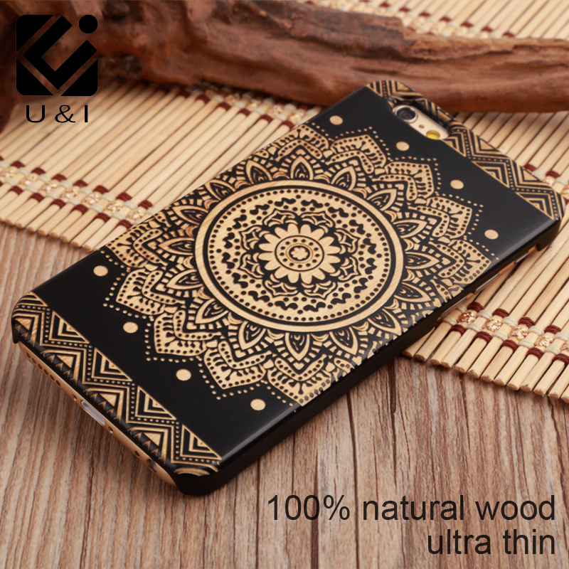 U&I Hot Selling Natural Wood+PC Hard Case Cover for Apple IPhone 5 5s se 6 6s 6plus 6s plus 4.7 inch 5.5 inch Many Kind of Design