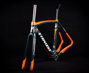 Image 2 - 2019 wzdłużne pomarańczowy rower rama rowerowa węgla rama rowerowa widelec sztyca zacisk zestaw słuchawkowy 49 52 54 56 58 xdb dpd wysyłka