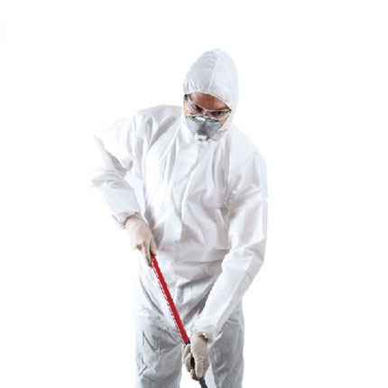 Dust spray Suit Siamese Non-woven chemical safety suit protective clothing white labor disposable clothing Safety coverall