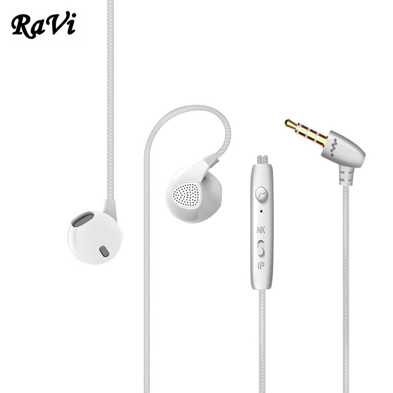 RAVI Original Headphones For iPhone 4 4s 5 5s 6s Sony Samsung Apple  Earphones Heavy Bass Headphone HD Mic Headset fone de ouvido 5834a9bf81290