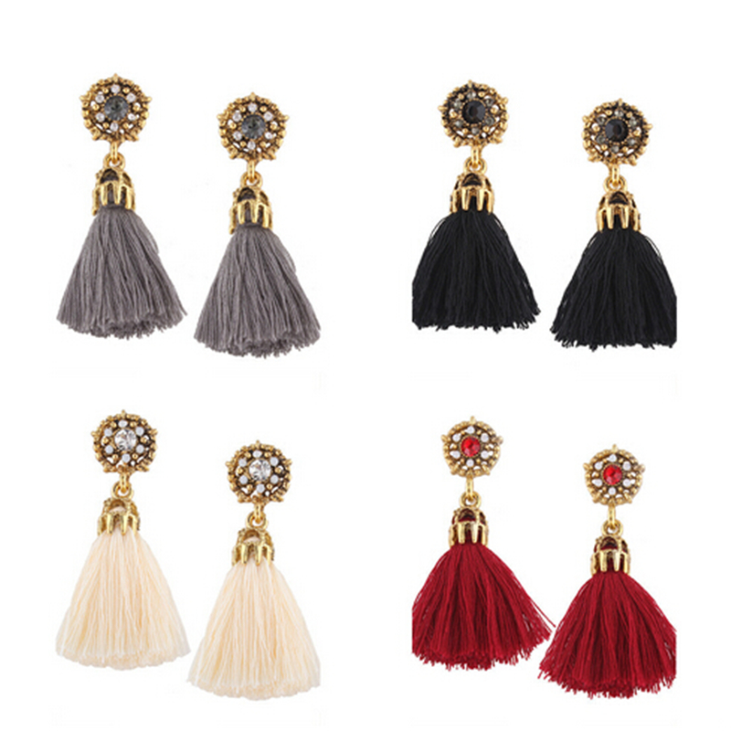 ZOSHI Colorful Bohemia Tassels Earrings For Women Beach Jewelry Long Dangle Drop Earrings Statement Brincos 2017 Summer Jewelry
