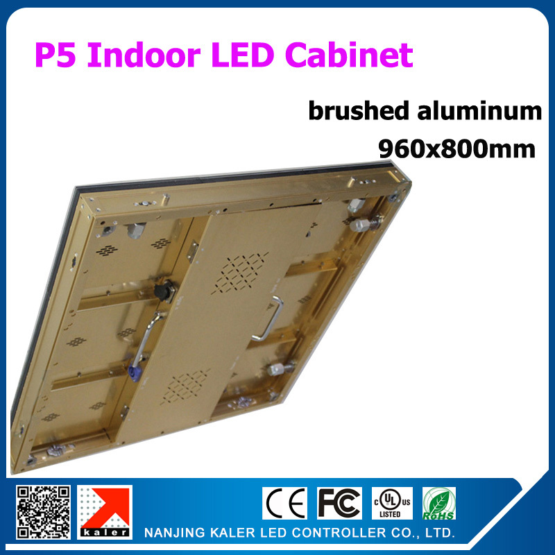TEEHO Indoor Aluminum Cabinet P5 Led Display Screen Panel Sign Billboard 0.96x0.8m 3in1 SMD RGB P5 Led Cabinet With Video Card