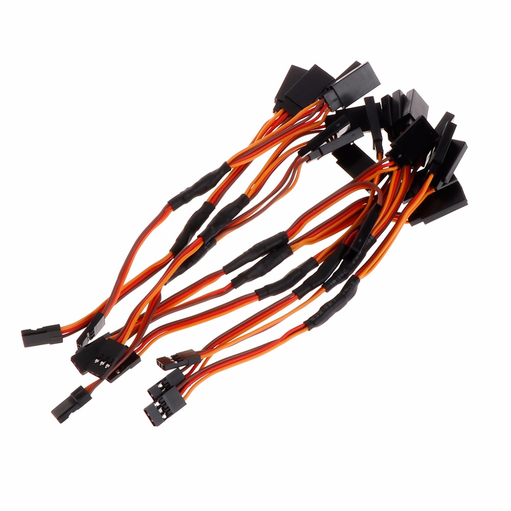 10Pcs 300mm Y RC Servo Style Lead Extension Wire Cable For JR Futaba for Helicopter New