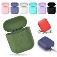 Étui pour écouteurs Bluetooth sans fil pour Apple Airpods 2 chargeur sans fil coque en silicone souple pour Airpods boîtier de protection de la peau