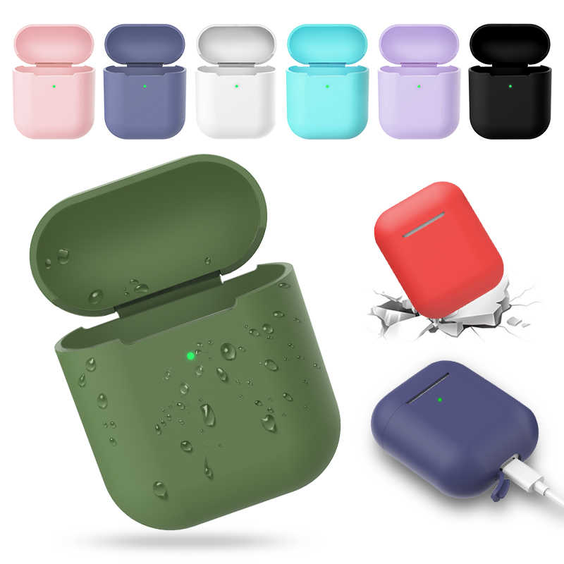 Wireless Bluetooth Earphone Case for Apple Airpods 2 Wireless Charger Soft Silicone Case for Airpods Protective Skin Cover Box