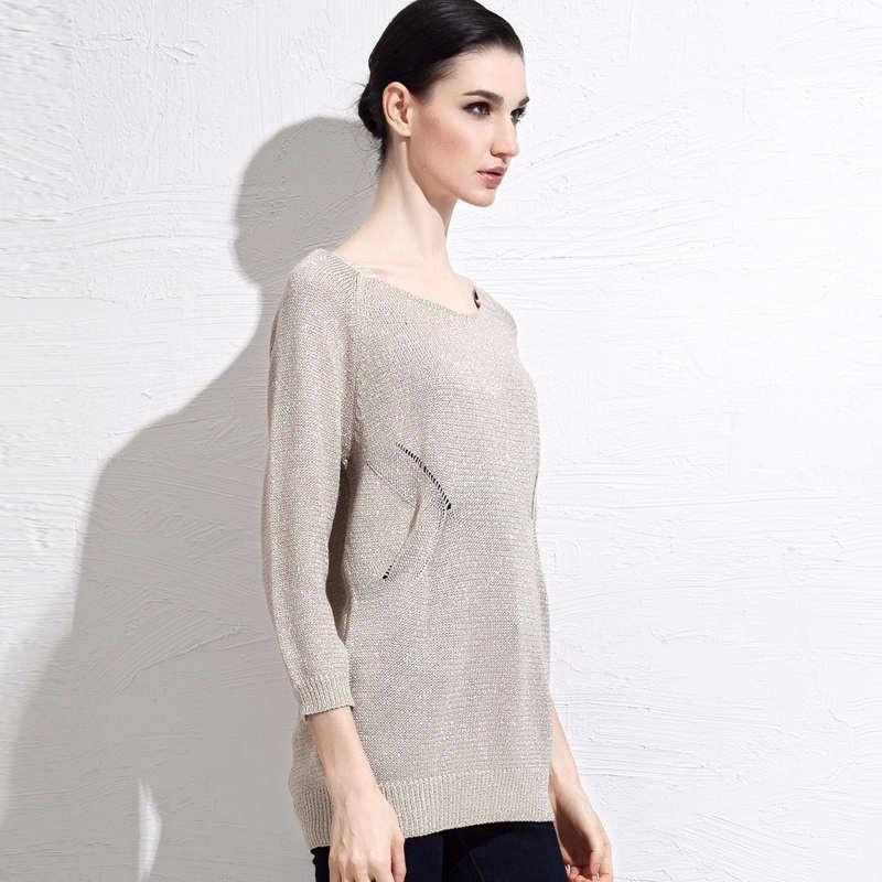 autumn grey women sweater 3