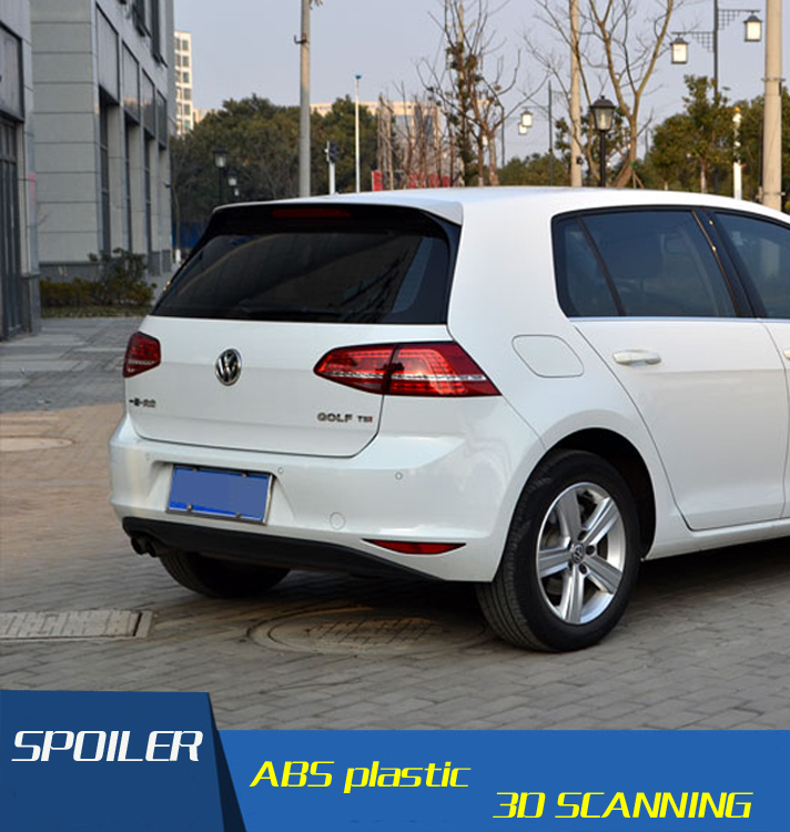 For MK7 Golf 7 Rline Spoiler ABS Material Car Rear Wing Primer Color VW Golf  Rear Spoiler For Volkswagen Golf  Spoiler 2014