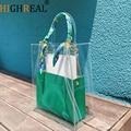 2019 neue Marke Sommer Designer Hohe Qualität Pvc Strand Klar Große Eimer Trage Transparente Kette Große Handtasche Kleine Leder Geldbörsen|Taschen mit Griff oben|   -
