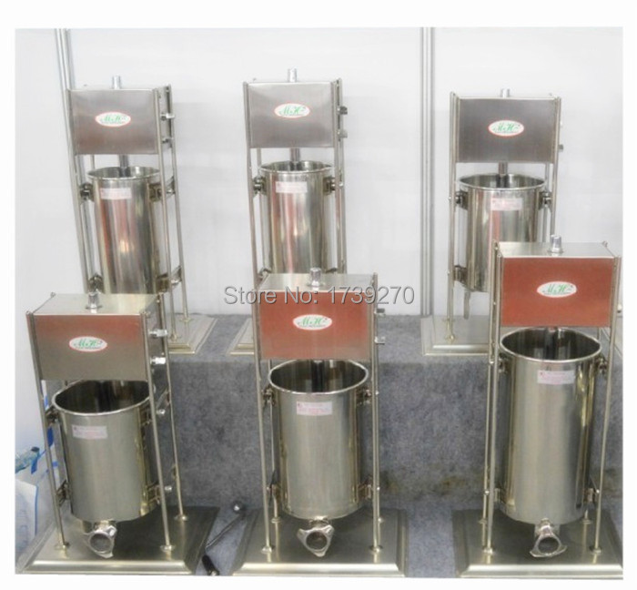 Manual free shipping Stainless Steel vertical Sausage Stuffer Maker Sausage Making Machine Sausage Filler for home use economic s steel manual s series sausage filler for hotel butcher home use and hunters