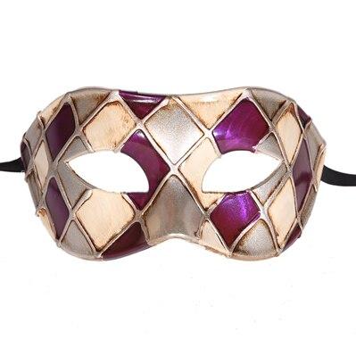 Горячая Арлекин Маскарад Танцевальная вечеринка маска уникальная мужская Венецианская проверенная маска - Цвет: purple silver