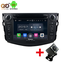 Free Camera Android 6 0 8 Octa Core 2GB RAM Car DVD Player For Toyota RAV4