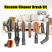 9PCS Vacuum Cleaner Brush Tool Adapter Kit For Dyson Vacuum Cleaners DC Series Fit 32mm 35mm