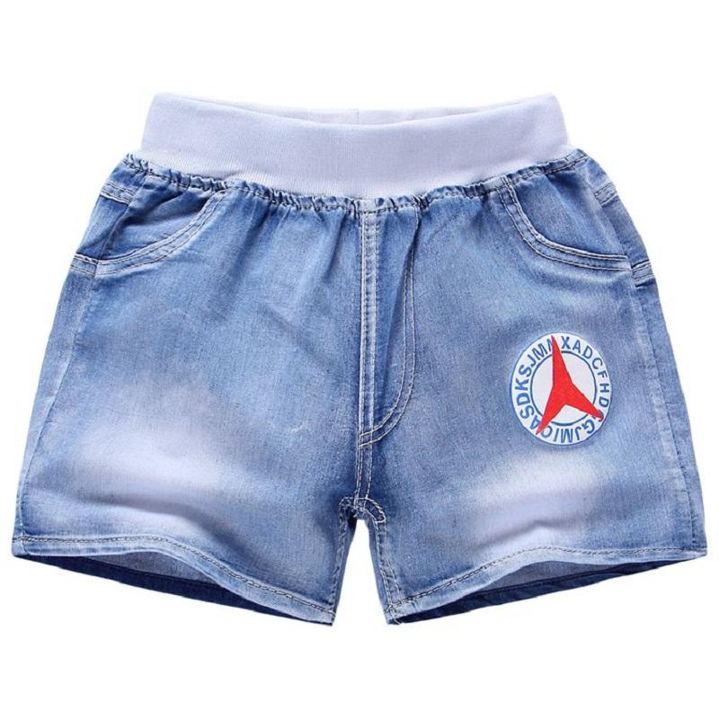 7 13 Years Boy jeans shorts 2017 New Fashion Cartoon Kids Jeans Pants Toddler Boys summer ...