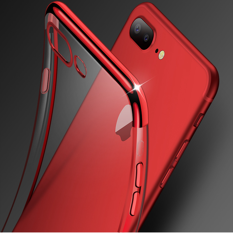 Transparent Silicon Case For iphone 7 XR iphone XS Max 6 s 6s Plus 7plus Cover Clear Coque Case For iphone 8 7 Plus iphone8 Case iPhone XS
