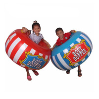 2 pieces/set Children Outdoor Sport Toys Inflatable Body Bucket Bumper Ball Sumo Bumper Bopper Sensory Training Inflatable Toys
