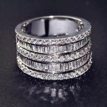 Роскошное женское кольцо с маленьким циркониевым камнем, 925 серебряное свадебное ювелирное изделие, кольца для помолвки для женщин, подарки на день Святого Валентина