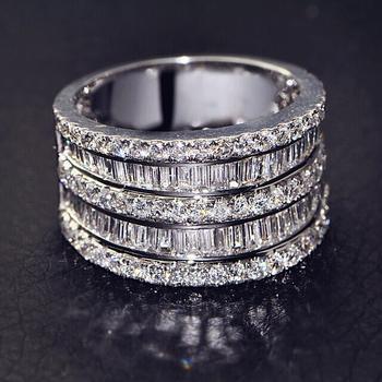 טבעת כסף 925 יוקרתית לחתונה