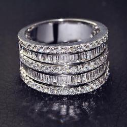 Lüks Kadın Küçük Zirkon Taş Yüzük 925 Gümüş düğün takısı Promise Nişan Yüzükler Kadınlar Için 2019 sevgililer Günü Hediyeleri