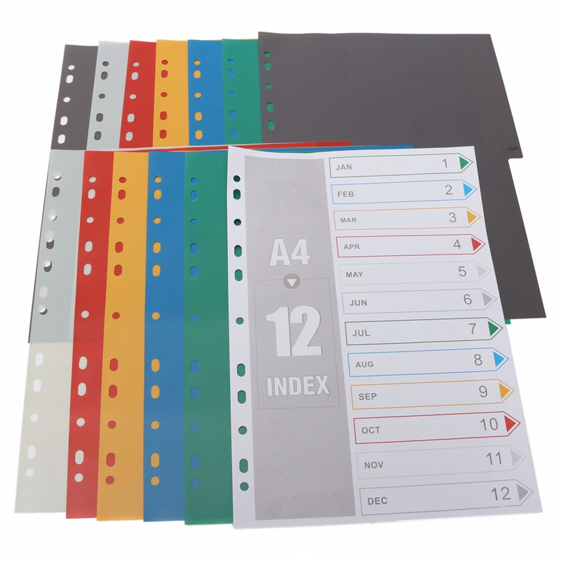 Aliexpress.com : Buy 12pcs Newest A4 Colored Schedule Tabbed ...