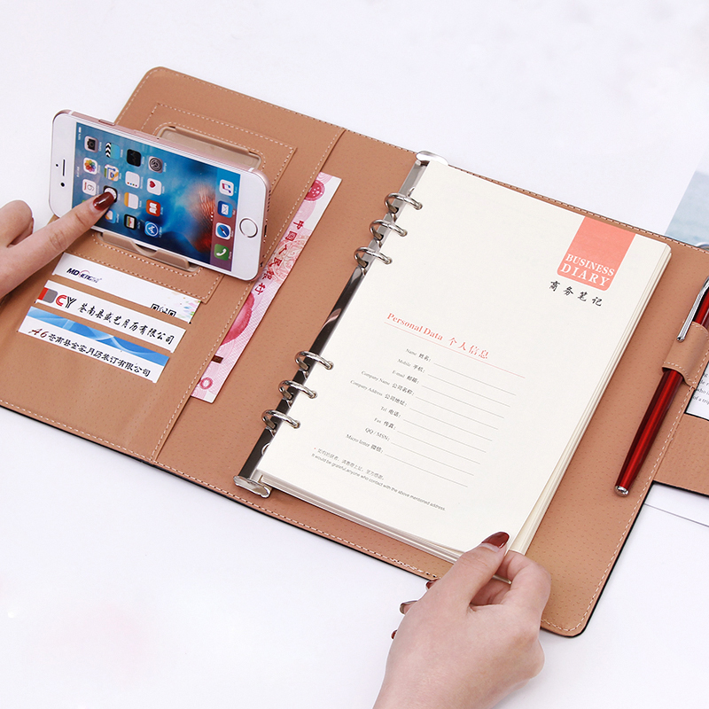 Loose-leaf notebook student a5 detachable thickened notepad b5 business work notebook loose-leaf Send glue pen b5 2018 fashion business notebook business loose leaf notebook a5 notebook with calculator multi functional loose leaf