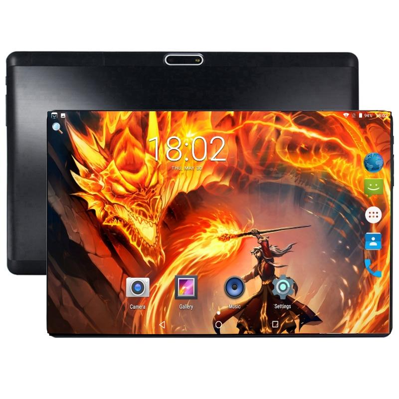 2019 Super 2.5D Vidro Temperado IPS 10 Polegada Tablet PC 64 4 GB de RAM GB ROM Octa Núcleo 3G 4G LTE FDD Poder 6000 mAh Android 8.0 Comprimidos