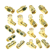 18 Pcs SMA Kits Connector Male Female Plug Antenna Converter Adapter Coax Set цена и фото