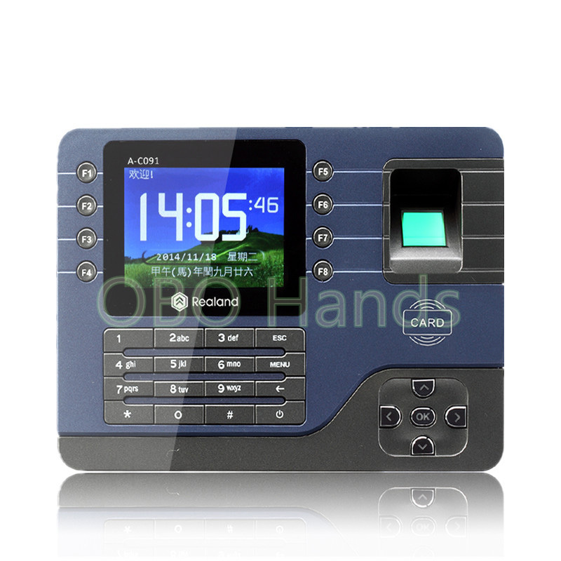 3.2 TFT fingerprint time attendance system biometric time recording Digital Electronic Portuguese Voice English Reader Machine biometric face and fingerprint access controller tcp ip zk multibio700 facial time attendance and door security control system