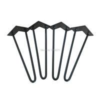 14 Teapoy Legs Matte Black 1 2 Steel Rod Set Of 4 Tea Table Hairpin Legs
