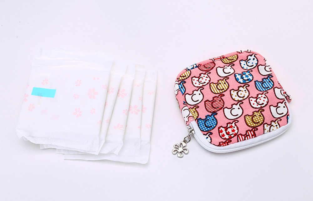 Saco cosmético Mulheres Bonito Sanitária Pad Makeup Bag Organizador Titular Guardanapo Toalha Conveniência Sacos bolsa saco de viagem organizador pochet