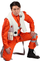 Poe dameron traje mono hot movie star wars vii cosplay xcoser de trajes de disfraces de halloween por encargo