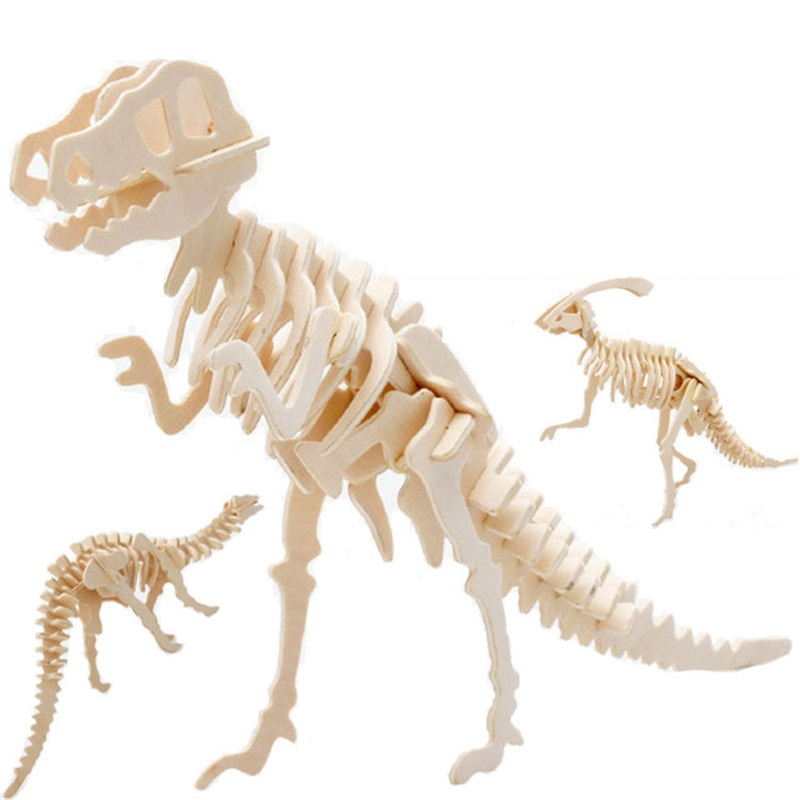 3D Simulation Dinosaur Puzzle Toys DIY Funny Skeleton Model Wooden Educational Intelligent Interactive Toy for Children Gifts3D Simulation Dinosaur Puzzle Toys DIY Funny Skeleton Model Wooden Educational Intelligent Interactive Toy for Children Gifts