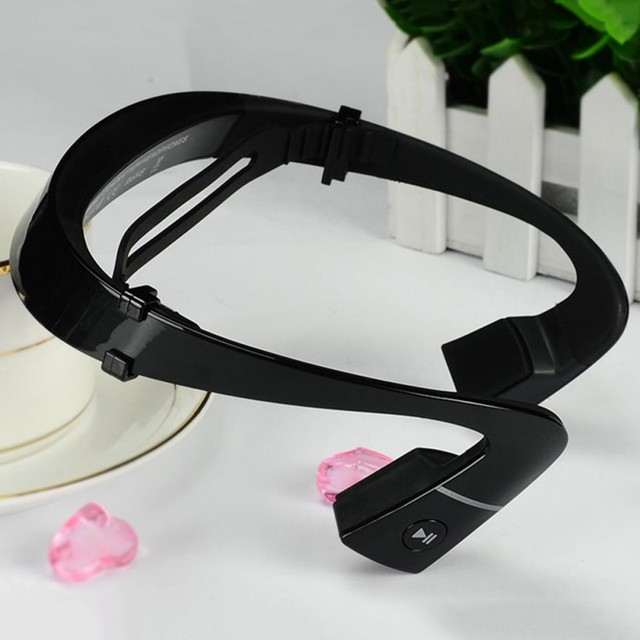 Wireless Bluetooth Headset Bone Conduction Ear-phones Sports Outdoor Hands Free with Mic For Running