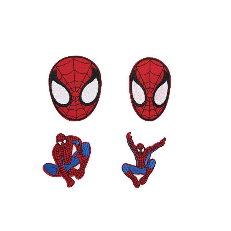 קריקטורה בד עשוי בגדים אביזרים, סופר גיבור ספיידרמן רקמת בד תיקון תיקון תג בגדי דקורטיבי תכשיטים