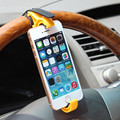 Universal Mobile Phone Holder Car Steering Wheel Holder Clip Car Mount for iPhone Smartphone GPS 4 Colors