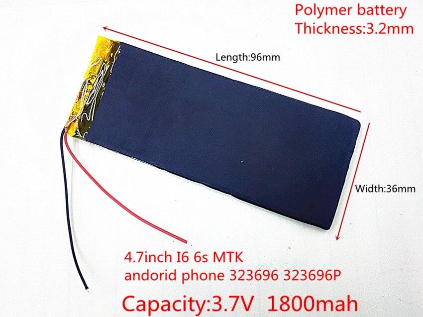 XWD 303696 P 3,7 V 1800 mAh Wiederaufladbare li-Polymer Li-Ion Akku Für china klon 4,7 zoll I6 6 s MTK andorid telefon 323696 323696 P
