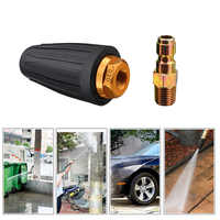 "1/4"" Rotating Spray Turbo Nozzle High Pressure Power Washer 360 Degree Turbo Nozzle Tips 3600 PSI Car Washing Garden Cleaning"